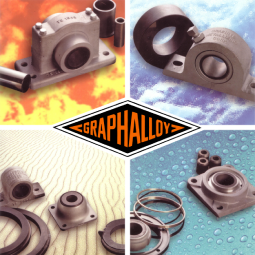 GRAPHALLOY self-lubricating bearings bushings hot cold dry wet
